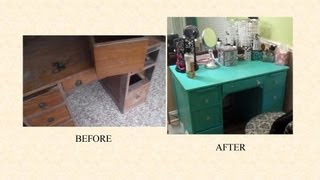 How I Refinished My Vanity/Desk