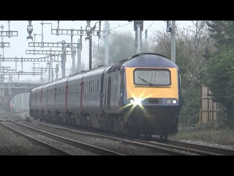 (HD) Trains along the Great Western Mainline (between Reading and Swindon) | 11/04/2018