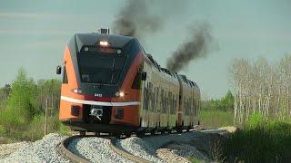 Штадлерскиe дизель-поездa 2422 и 2238 / Stadler DMU's 2422+2238