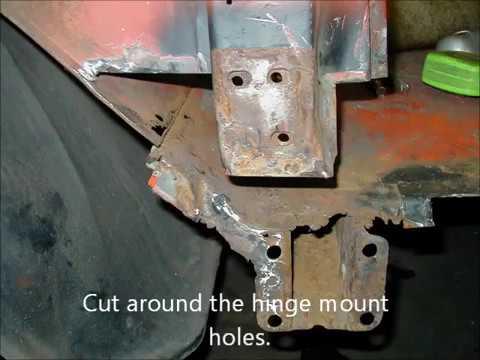 Chevy rocker panel repair.