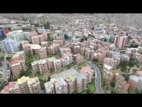 La Paz Bolivia, Zona Sur los nuevos Pinos, drone test flight Phantom 3 advanced 1080HD Aug 2015