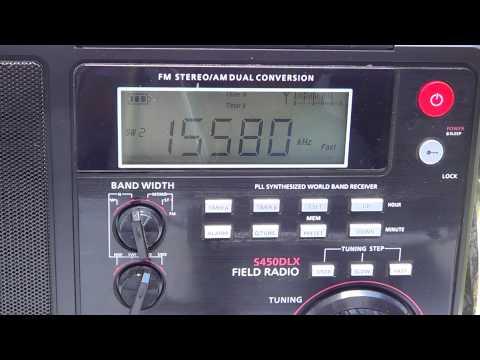 Summer shortwave radio listening Voice of America via Botswana