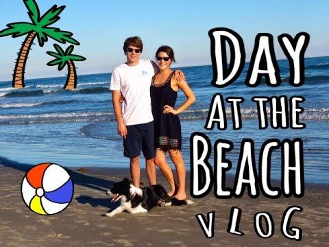Day at the Beach | October Vlog | Galveston Island - YouTube