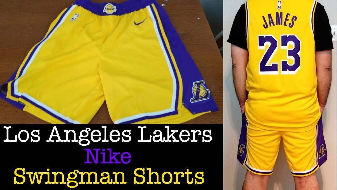 Nike x Los Angeles Lakers Swingman Shorts 2018-2019 - Matching Lebron Jersey b1388e16c