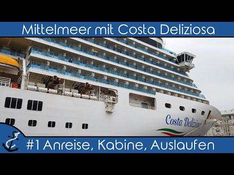 Kreuzfahrt-Vlog - Mittelmeer Mit Costa Deliziosa - 2019 #1 Anreise (Flug,  Kabine, Auslaufen)