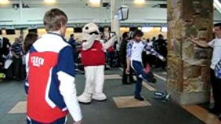 Czech Olympic Athletes Relax at YVR Airport