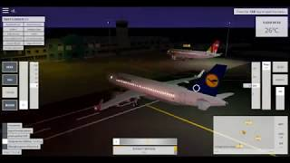 Take-off by Lufthansa airline!!!! Crash lands in the water!!!! (Velocity Roblox)