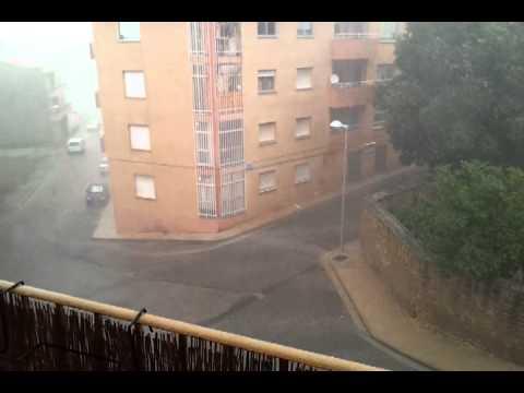Gran tormenta en Caspe 5\8\2012