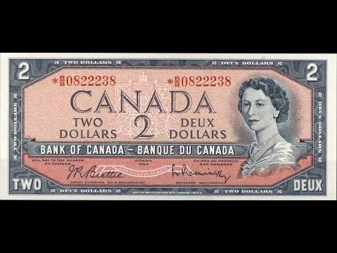 1954 Canadian Two Dollar Bill