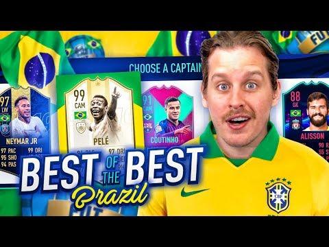 IS BRAZIL THE BEST?! THE BEST BRAZILIAN FUT DRAFT CHALLENGE! FIFA 19 Ultimate Team