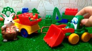 Видео для малышей. Грузовичок и экскаватор собирают урожай