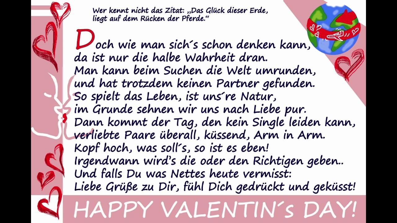 Valentinstagsgrusse An Single Freunde Youtube