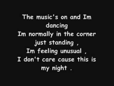Not Myself Tonight - Christina Aguilera with lyrics on screen