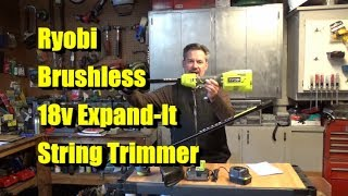 Tool-Only 18-Volt Lithium-Ion Cordless Attachment Capable Brushless String Trimmer RYOBI P20101BTL One