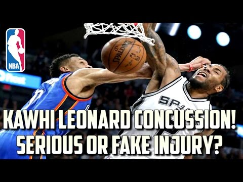KAWHI LEONARD CONCUSSION PROTOCOL! SERIOUS OR FAKE INJURY? OUT VS GOLDEN STATE WARRIORS!