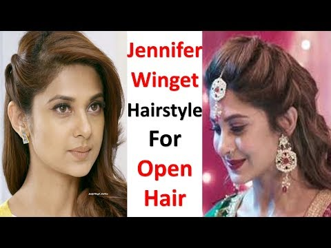 jennifer winget hairstyle for party | open hairstyle | easy hairstyle | cute hairstyle | hairstyle thumbnail