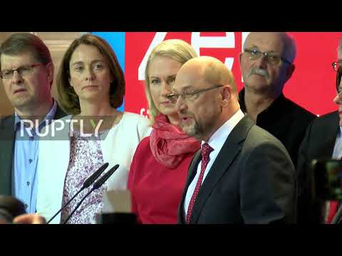 Germany: 'A difficult day for social democracy' - SPD's Schulz reacts to exit polls