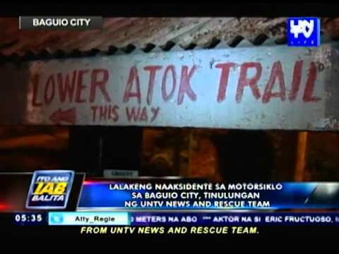 Naaksidente sa motorsiklo sa Baguio City, tinulungan ng UNTV News and Rescue team