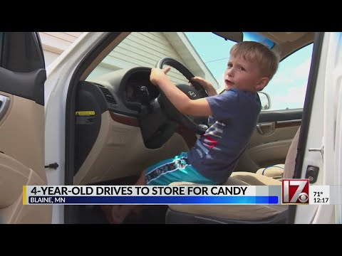 MN 4-year-old drives to gas station for candy