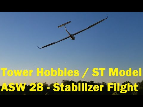 Tower Hobby / ST Model / Sheng Teng - ASW 28 - Flight Review with Stabilizer Installed - 5/30/2017