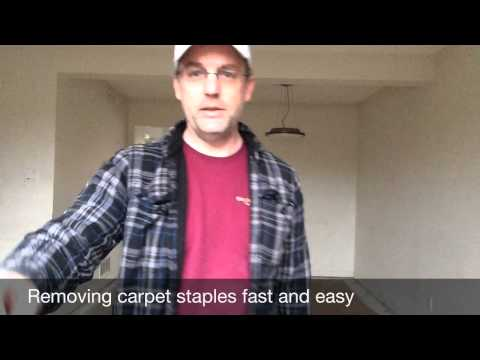Fast and easy way to remove carpet staples from floors