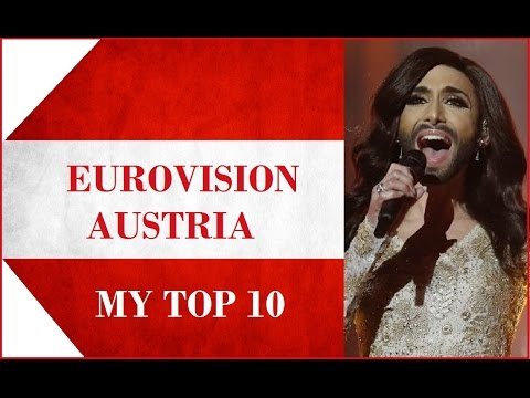 Austria in Eurovision - My Top 10 [2000 - 2016]