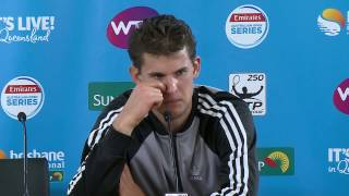 Journalist thinks Dominic Thiem is from Belgium in Brisbane press conference