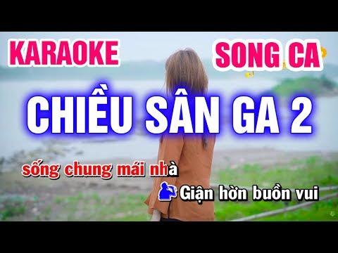 Karaoke Chiều Sân Ga 2 Song Ca Nhạc Sống | Mai Thảo Organ