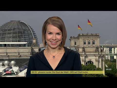 Wahlnachlese und Klima: Helene Bubrowski (FAZ) in phoenix nachgefragt am 04.09.19