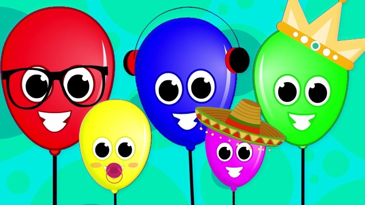 Baloes Dedo Familia Desenho Animado Desenho Infantil