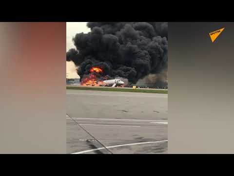 Plane Catches Fire at Moscow's Sheremetyevo Airport During Hard Landing