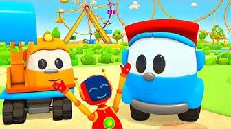 Zeichentrickfilm für Kinder - Leo der Lastwagen baut ein Kettenkarussell - Spielspaß mit Leo