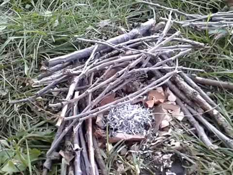 Starting A Fire With Magnesium Shavings