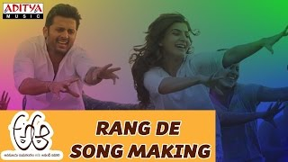 Download Hindi Video Songs - Making of Rang De Song || A Aa Telugu Movie || Nithiin, Samantha , Trivikram, Mickey J Meyer
