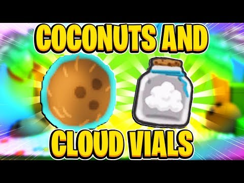 NEW Coconuts And Cloud Vials In Roblox Bee Swarm Simulator