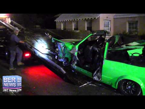Tow Truck Removes Crashed Car, October 9 2014