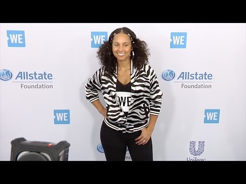 "Alicia Keys 2017 ""WE Day"" California Event"