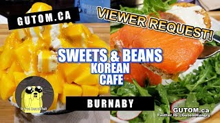 KOREAN SHAVED ICE MANGO BINGSOO AT SWEETS AND BEANS CAFE | Vancouver Food Guide Reviews - Gutom.ca