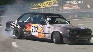 BMW Drift special at Swiss Hillclimb 2012, M3 E30, 325, 325 Touring, Marc Fleury only Sideway