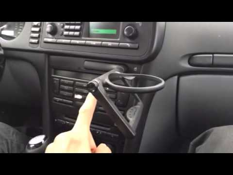 Town And Country Toyota >> Saab 9-3 cup holder in dash - YouTube