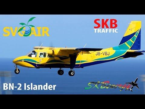 Rare Catch !!! SVG Air BN-2 Islander making its way into St. Kitts R.L.B Int'l Airport