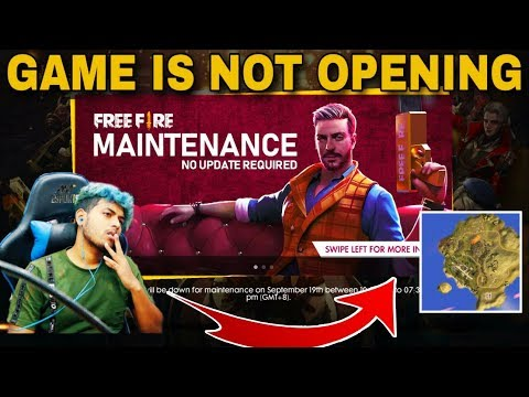 Free Fire New Update 2019 Live (Game Is Not Opening 19th September 2019) [HINDI]