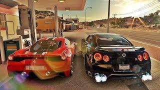 Forza Horizon 3 Online - Nissan GT-R VS Ferrari 458 Speciale - GoPro ‹ ZoiooGamer ›