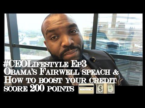 Obama farewell speech', Boost credit score, & Latest Update 💳💵 #CEOLifestyle Ep3