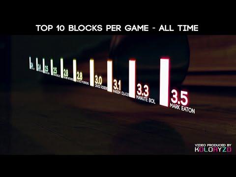 NBA TOP 10 LIST - MOST BLOCKS PER GAME EVER