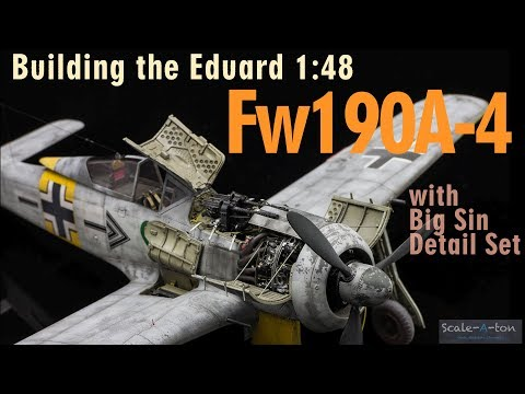 Building the Eduard Fw190A-4 & Resin BMW 801 Engine Scale Model Aircraft