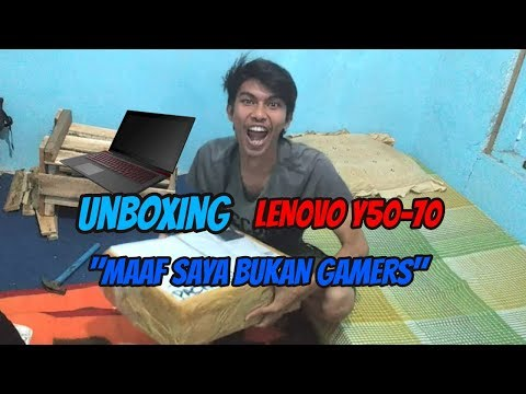 UNBOXING LENOVO Y50-70    MAAF SAYA BUKAN GAMERS