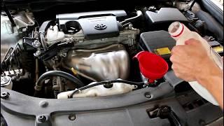 Toyota Camry XV50 Тойота Камри 2012 года, 2,5 Замена охлаждающей жидкости антифриза