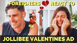 Foreigners react to JOLLIBEE VALENTINES advertisement 2019 Kwentong
