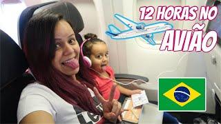 CHEGAMOS BRASIL! VIAGEM DE AVIÃO SOZINHAS PARA O BRASIL | RÊ ANDRADE VLOGMAS #11 Daily Vlog Familia